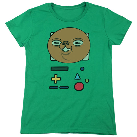 Adventure Time Bmo Mask Women's 18/1 Cotton SS T