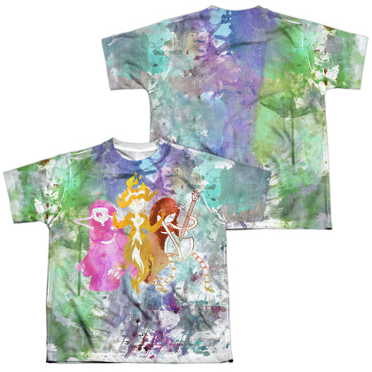Adventure Time Three Ladies (Front/Back Print) Youth Regular Fit Poly SS T