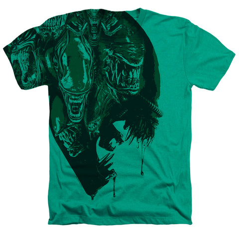 Alien Inside Aliens Men's 30/1 Cotton Poly SS Heather T