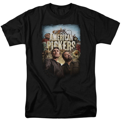 American Pickers Picker Poster Men's 18/1 Cotton SS T