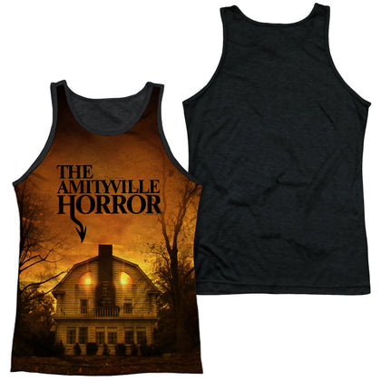 Amityville Horror House Men's Black Back Poly Regular Fit Tank Top