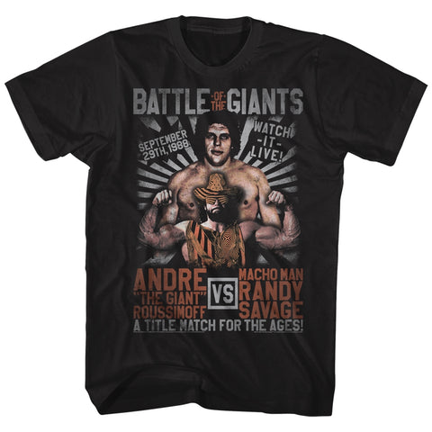 Andre The Giant Special Order Versus Match Adult S/S T-Shirt