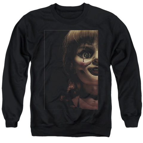 Annabelle Doll Tear Men's Crewneck 50 50 Poly LS T