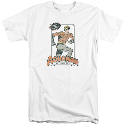 Aquaman Am Action Figure Men's 18/1 Tall Cotton SS T