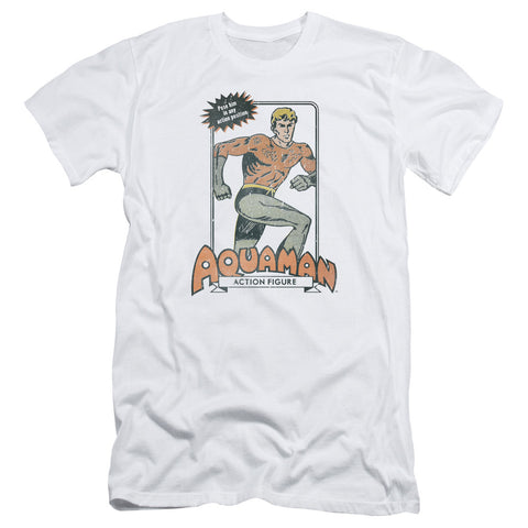 Aquaman Am Action Figure Men's 30/1 Cotton Slim SS T
