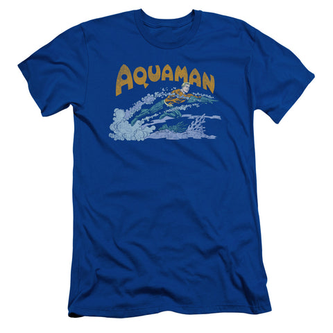Aquaman Aqua Swim Men's 30/1 Cotton Slim SS T