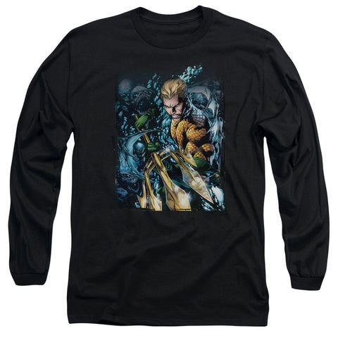 Aquaman Aquaman #1 Men's 18/1 Cotton LS T