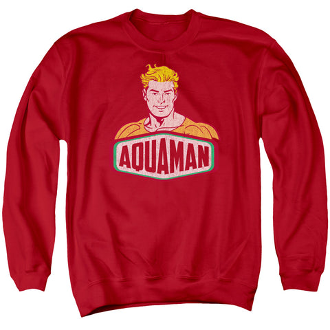 Aquaman Aquaman Sign Men's Crewneck 50 50 Poly LS T