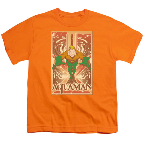 Aquaman Aquaman Youth 18/1 100% Cotton SS T