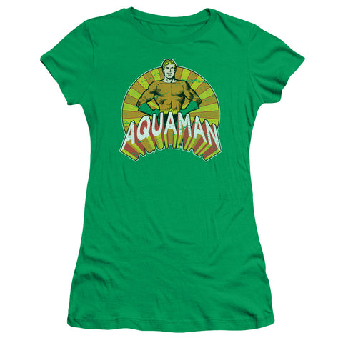 Aquaman Arms Akimbo Junior's 30/1 Cotton Cap-Sleeve T