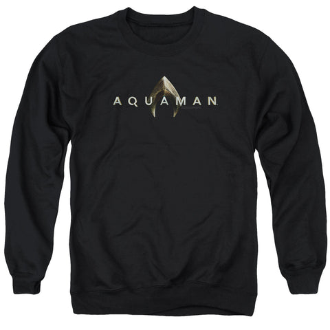 Aquaman Movie Logo Men's Crewneck 50 50 Poly LS T