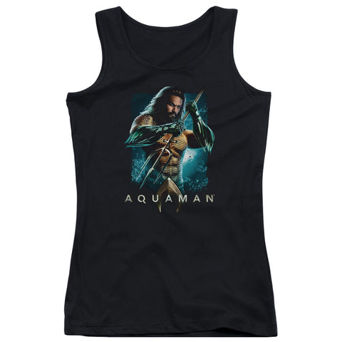 Aquaman Movie Trident Junior's 100% Cotton Tank Top