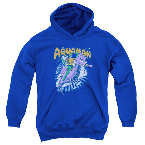 Aquaman Ride Free Youth Cotton Poly Pull-Over Hoodie