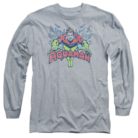 Aquaman Splish Splash Men's 18/1 Cotton LS T