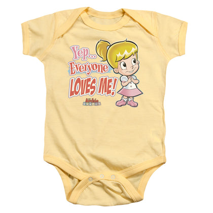 Archie Babies Everyone Loves Me Infant's Cotton SS Snapsuit