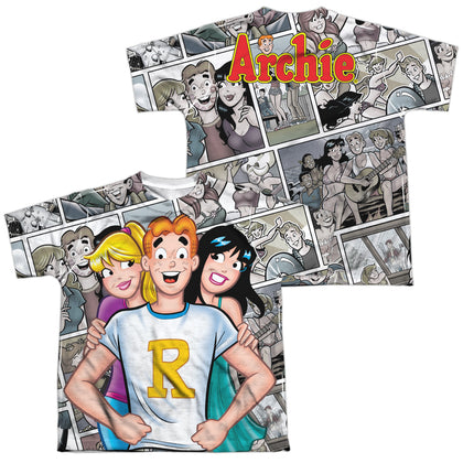 Archie Comics Archie And Gals (Front/Back Print) Youth Regular Fit Poly SS T