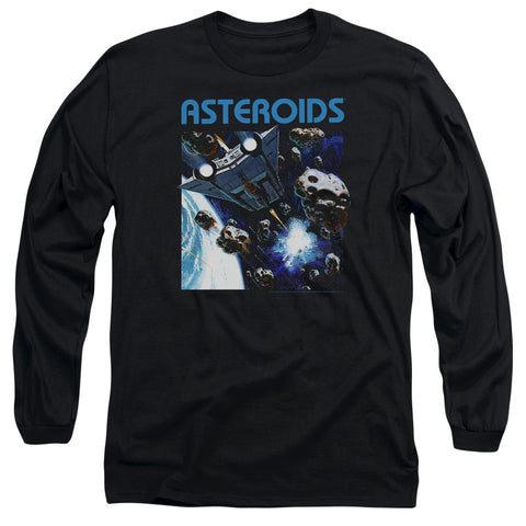 Atari 2600 Asteroids Men's 18/1 Cotton LS T