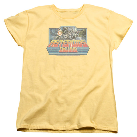 Atari Asteroids Deluxe Women's 18/1 Cotton SS T