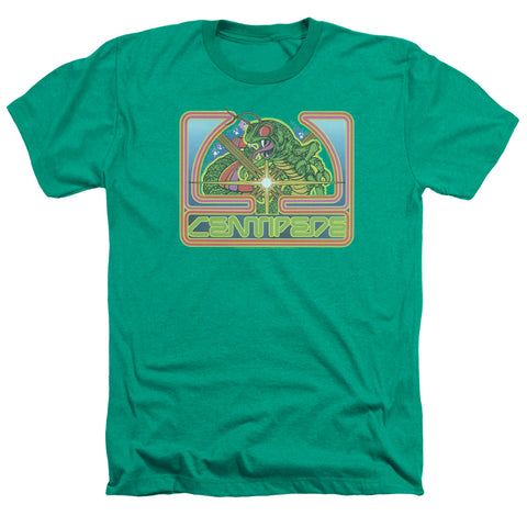 Atari Centipede Green Men's 30/1 Heather 60 40 Poly SS T