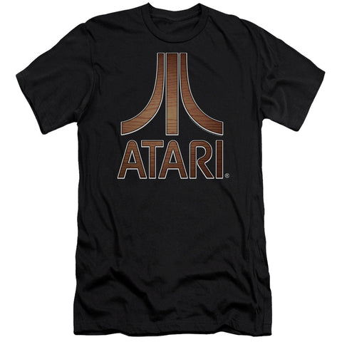 Atari Classic Wood Emblem Men's Ultra-Soft 30/1 Cotton Slim SS T