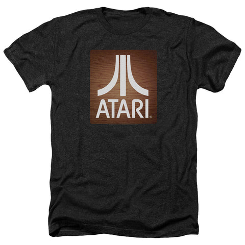 Atari Classic Wood Square Men's 30/1 Heather 60 40 Poly SS T