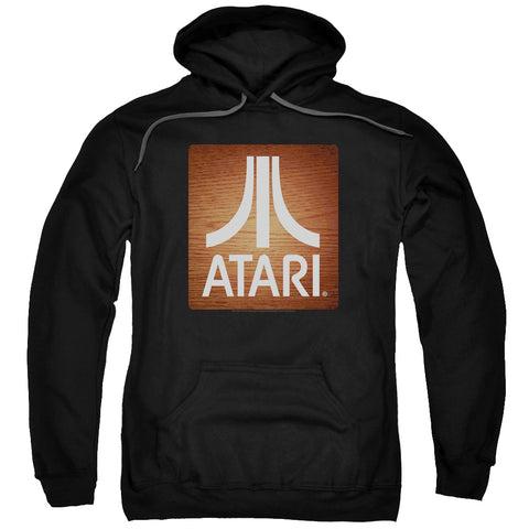 Atari Classic Wood Square Men's Pull-Over 75 25 Poly Hoodie