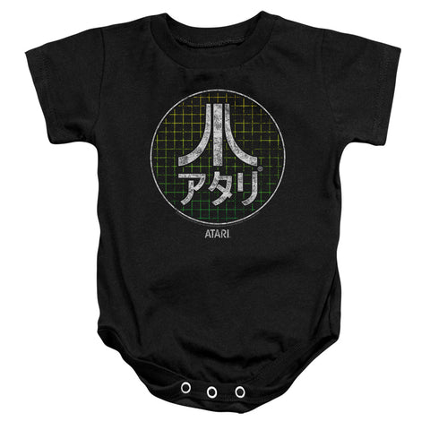 Atari Japanese Grid Infant's Cotton SS Snapsuit