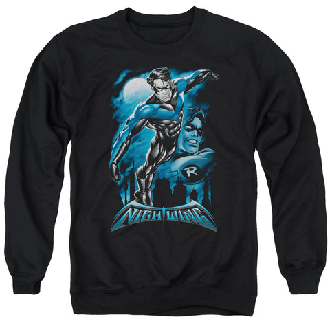 Batman All Grown Up Men's Crewneck 50 50 Poly LS T