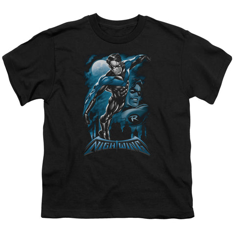 Batman All Grown Up Youth 18/1 100% Cotton SS T