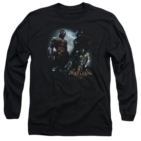 Batman Arkham Knight Face Off Men's 18/1 Cotton LS T