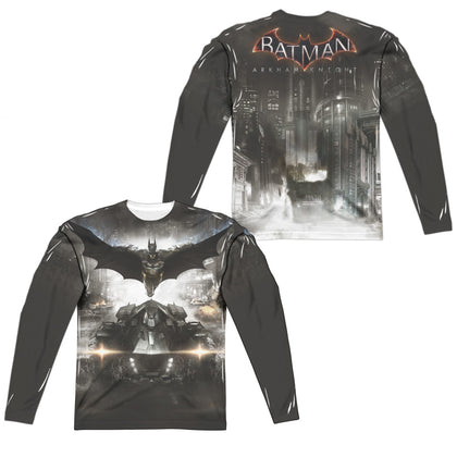 Batman Arkham Knight Poster (Front/Back Print) Men's Regular Fit Polyester LS T