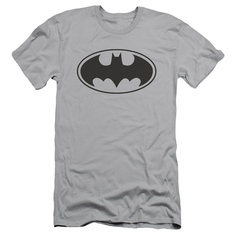 Batman Black Bat Men's 30/1 Cotton Slim SS T