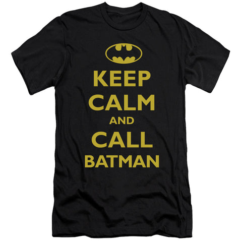 Batman Call Batman Men's 30/1 Cotton Slim SS T