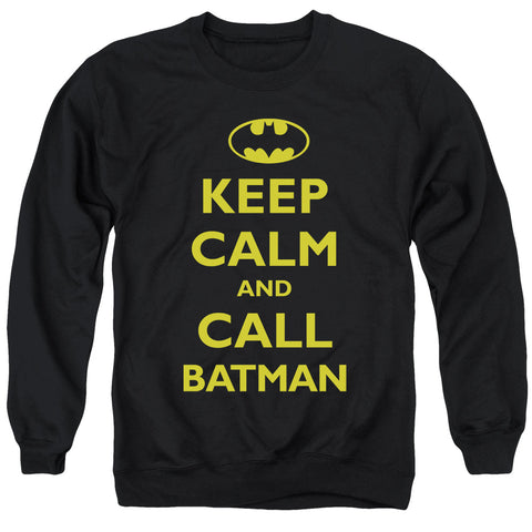 Batman Call Batman Men's Crewneck 50 50 Poly LS T