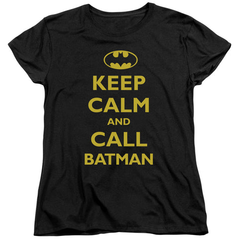 Batman Call Batman Women's 18/1 Cotton SS T