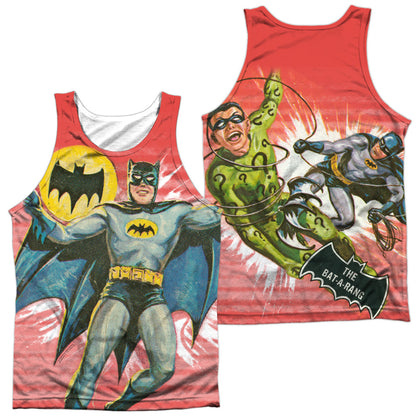 Batman Classic Tv Wrong Question (Front/Back Print) Men's Regular Fit Polyester Tank Top