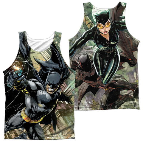 Batman Comics Catch (Front/Back Print) Men's Regular Fit Polyester Tank Top