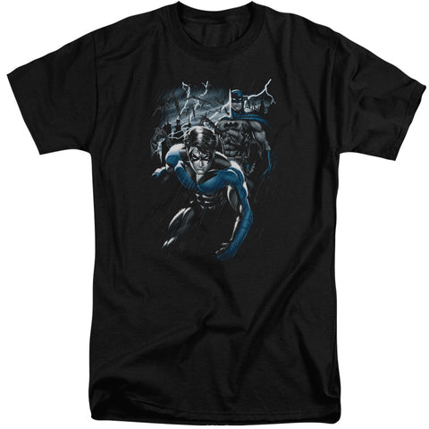 Batman Dynamic Duo Men's 18/1 Tall Cotton SS T