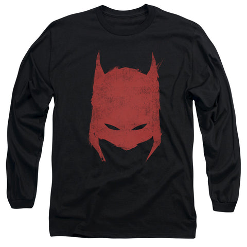 Batman Hacked & Scratched Men's 18/1 Cotton LS T