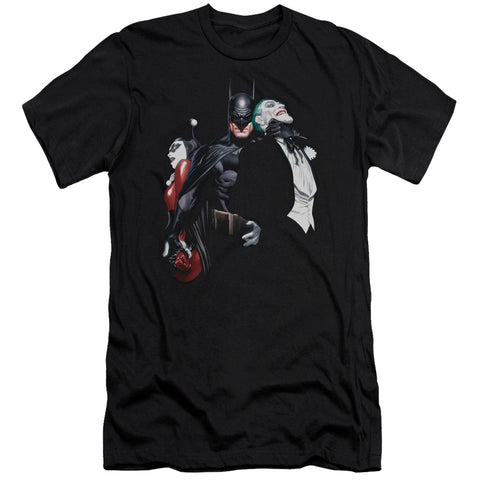 Batman Joker Harley Choke Men's 30/1 Cotton Slim SS T