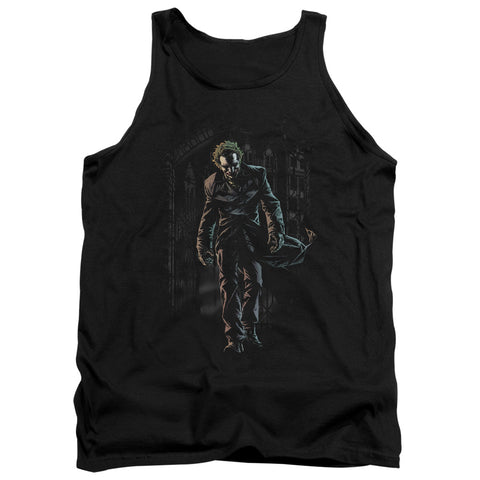 Batman Joker Leaves Arkham Men's 18/1 Cotton Tank Top