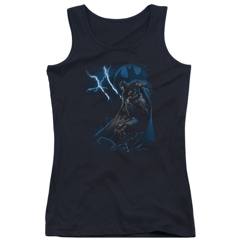 Batman Lightning Strikes Junior's 100% Cotton Tank Top