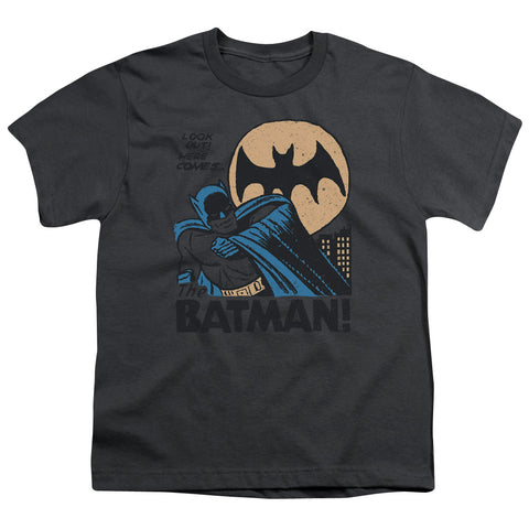 Batman Look Out Youth 18/1 100% Cotton SS T