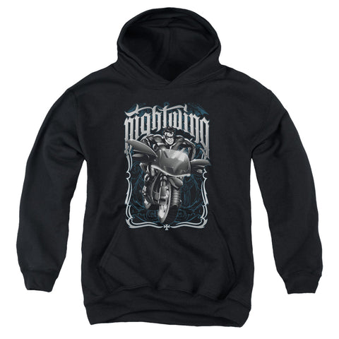 Batman Nightwing Biker Youth Cotton Poly Pull-Over Hoodie