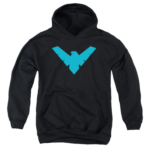 Batman Nightwing Symbol Youth Cotton Poly Pull-Over Hoodie