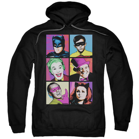 Batman Pop Cast Men's Pull-Over 75 25 Poly Hoodie