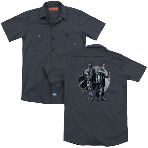 Batman Spotlight (Back Print) Men's Cotton Poly SS Work Shirt