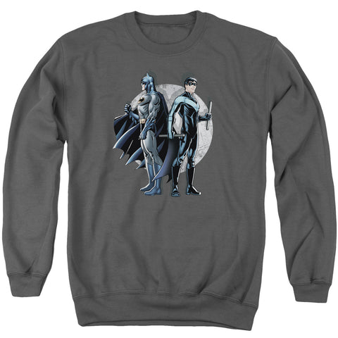 Batman Spotlight Men's Crewneck 50 50 Poly LS T