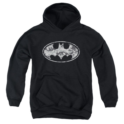 Batman Urban Camo Shield Youth Cotton Poly Pull-Over Hoodie