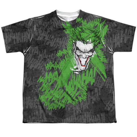 Batman Whats So Funny Youth Regular Fit Poly SS T